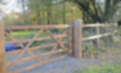 Post & Rail Fencing with Five Bar Gate