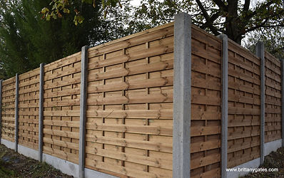 Wooden Fencing with Concrete Post and Gravel Board