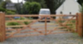 Six bar wooden Gate