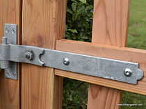 Hinges cranked band with hook galvanised