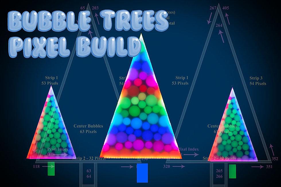 Harbeck Lights Bubble Trees Pixel Build Light Sculpture