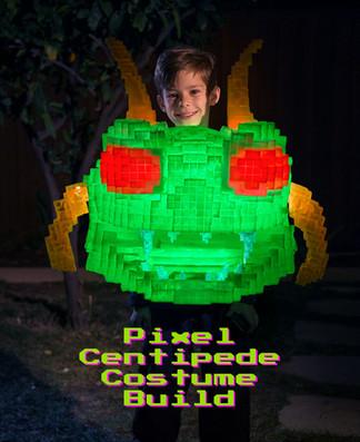 Making an 8-bit Glowing Centipede Halloween Costume