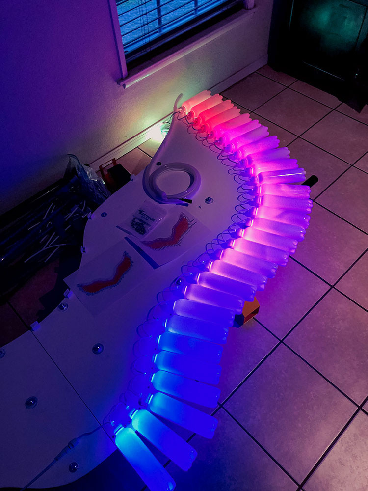 LED Pixel Angel Wings