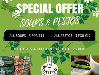 Special December Promotion - Soups & Pestos