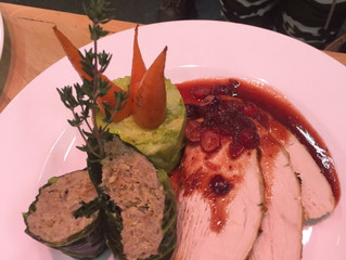 Stuffed Green Cabbage Leaves With Pork & Apple Stuffing