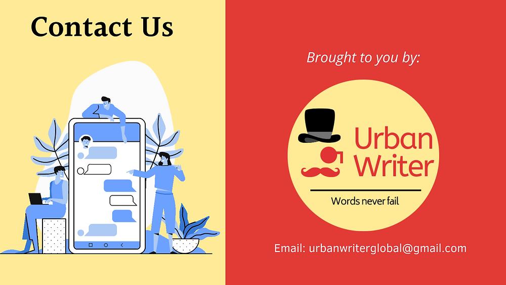 Contact Us Urban Writer