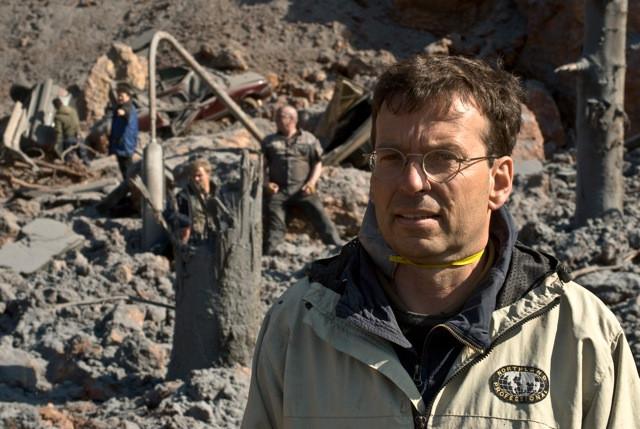 """Matthias Kammermeier am Filmset von """"Vulkan"""""""