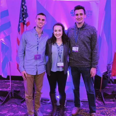 Yehudi Students at a conference