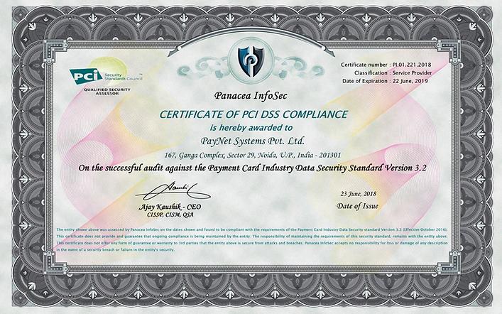 PayNet PCIDSS COC