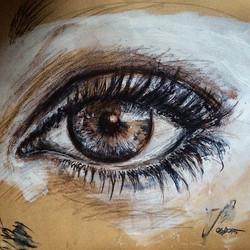 #eyes #charcoal #conté & #acryl #sketch#sketchbook#light#look#at_a_glance#knowingly#janoum