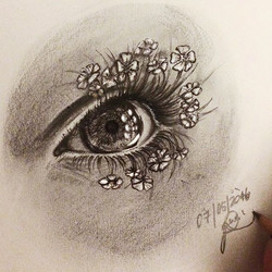 #flowerlashes 🌾_pencil & #ink on paper_#lastmay #welcomespring_•_•_•_•_#instagood #gallery #masterp