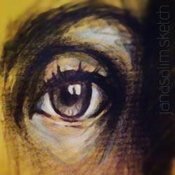 #afterchristmas #eye _#charcoal & #pastel on paper_•_•_•_•_•_•_#sketch#sketchbook#sketching#eyes#bro