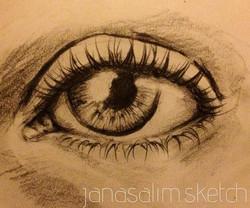 ... a quick #eye sketch #fromanyone ✏.