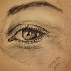 #eye pencil on paper__#sketch#quicksketch#pencilsketch#pencilonpaper#latenightsketch#eyes#eyelashes#