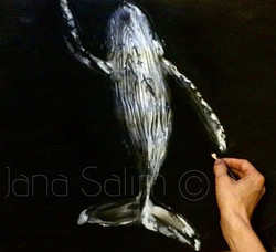 'uplift'_charcoal & oil pastel on paper _Inspired by  _thurstonphoto 🐋__#drawing#whale#deep#sea #wa