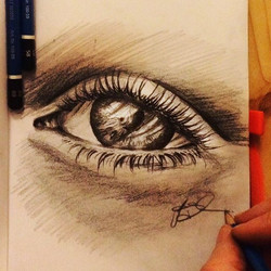 eye _pencil on paper_✏️ .
