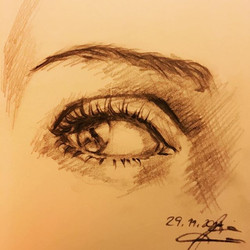 'eyequickie' #quicksketch_pencil on pape