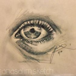 quick eye evening sketch of anyone ✏️💭😁 #sketch#sketchbook#eyes#pencil#pencildrawing#pencilwork#lo