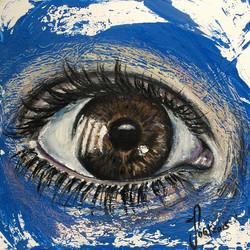 braun _ blau #eyes #drawing #acryl & #oilpastel #browneye#blue#colors#artwork#artfido#janoum
