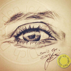 'Sumi's Eye'_#quicksketch_•_•_#art #illustration #drawing #draw #picture #artist #sketch #sketchbook