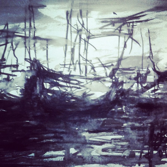 #drawing#boats#sketch#sketchbook#sea#sailing#fog