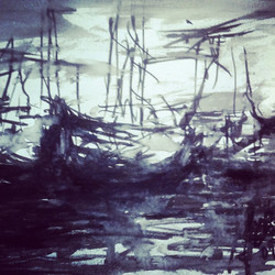 #drawing#boats#sketch#sketchbook#sea#sailing#fog