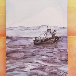 almost a beach-watercolor ..