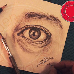 'look'_pencil on paper_•_-link in bio-_#art #eye #illustration #drawing #draw #picture #artist #sket