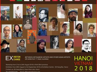 Exhibition Exchange 2018 Between Vietnamese Artists and Other Asian Artist- Hanoi Vietnam