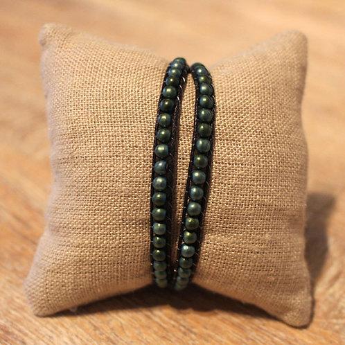 Wickelarmband mit Hämatit-Perlen