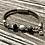 Thumbnail: Armband Leder und grauer Achat