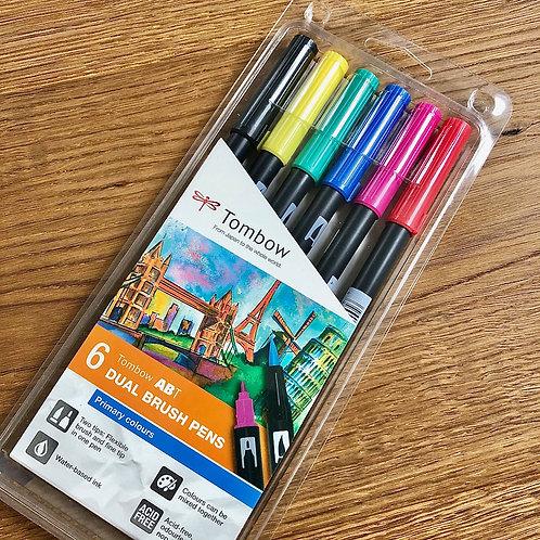 TOMBOW Brush Pen Etui Grundtöne