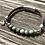 Thumbnail: Armband Leder und grüner Achat