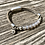 Thumbnail: Armband Leder und opalgrauer Achat