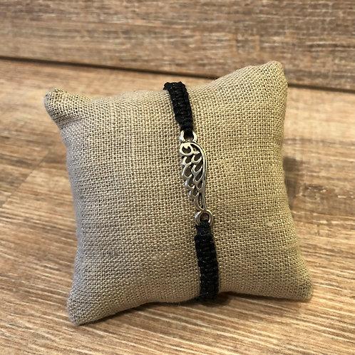 Makramee Armband, schwarz