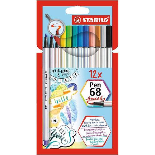 STABILO Brush Pen - 12er Set