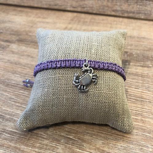 Makramee Armband, violett