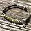 Thumbnail: Armband Leder und olivgrüner Achat