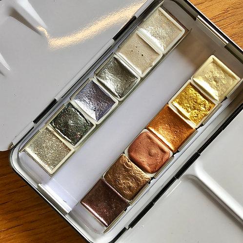 Kleiner Malkasten - Gold und Silber