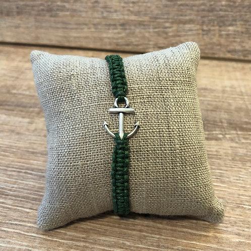 Makramee Armband, grün
