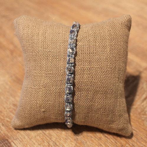 Shamballa-Armband, hellblau