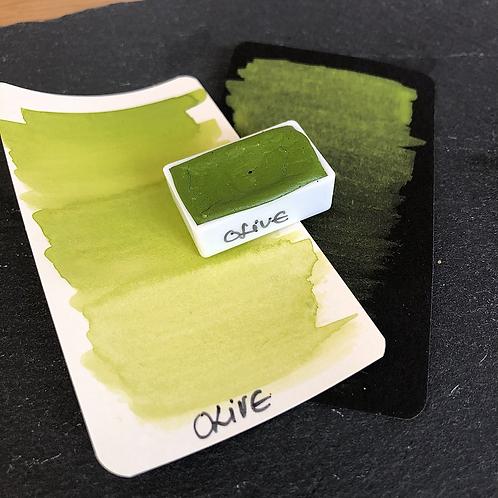 Watercolor – Olive (hell), matt