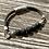 Thumbnail: Armband Leder und Lavastein