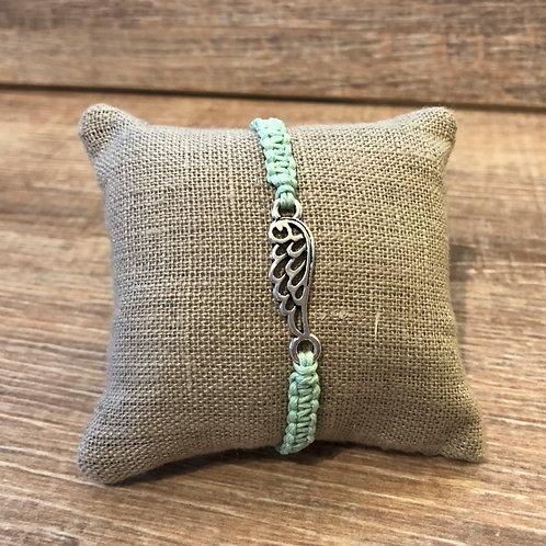 Makramee Armband, pastellgrün