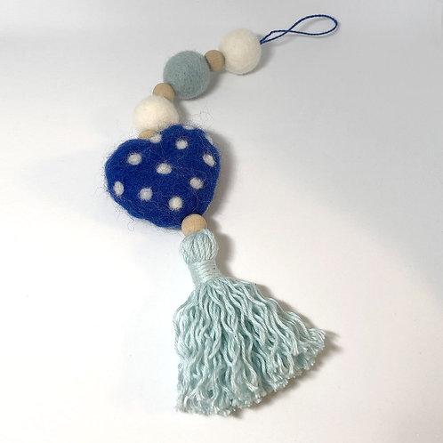 Filz-Hängedeko, blau