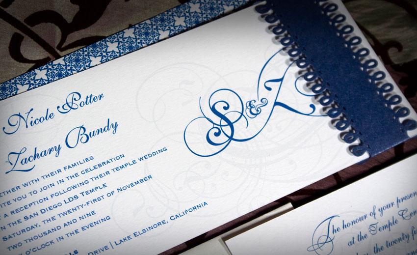 Die Cut Letterpress Wedding