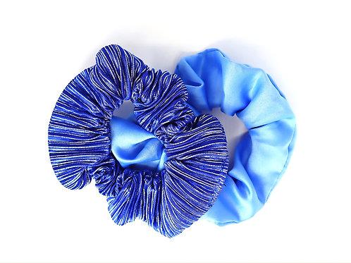 BLUE LOVE SCRUNCHIE DUO