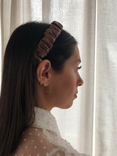 BROWN LEATHER HAIRBAND
