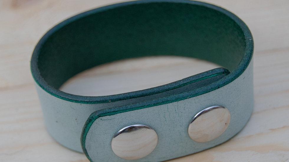 Ghost Leather Bracelet - Mint Green - Cuff Strap