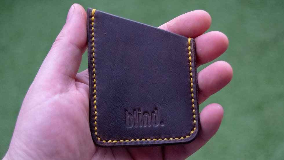 Minimalist Leather Card Holder - Horween Chromexcel - Brown